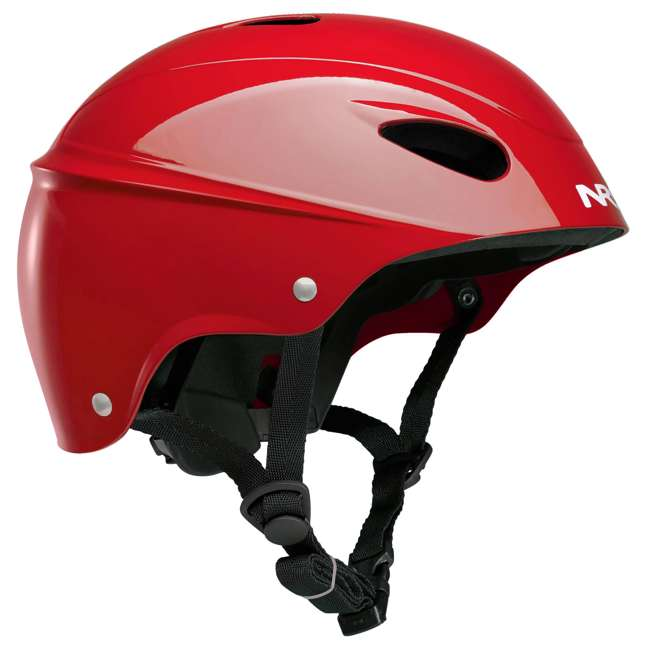 42604.01.100 NRS Havoc Adult Livery Whitewater Kayak Rafting Safety Helmet, One Size, Red