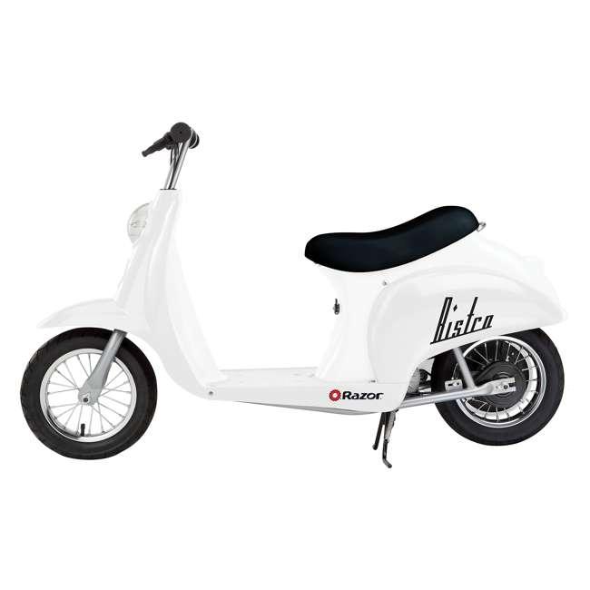 15130608 + 15130601 Razor Pocket Mod Miniature Electric Scooters, 1 White & 1 Black 1