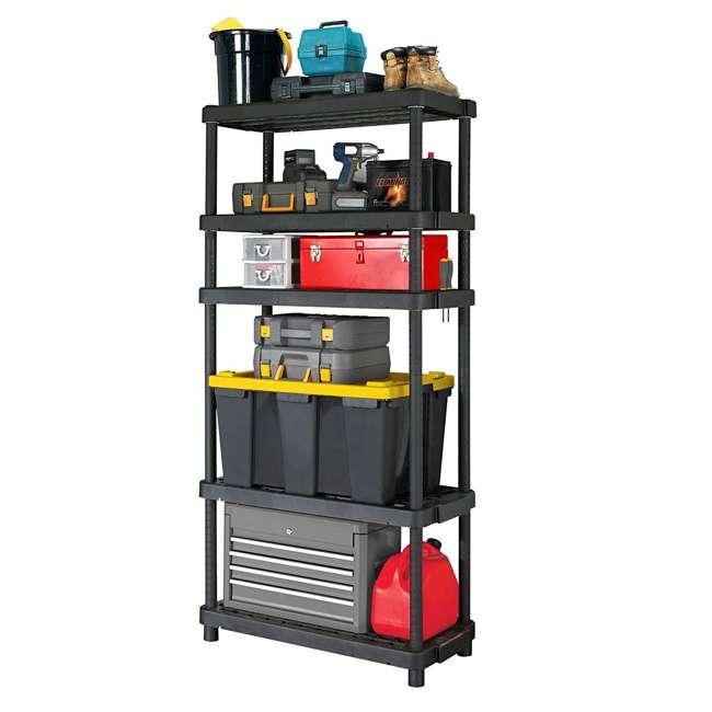 91069MAXIT-1C Gracious Living Heavy Duty Adjustable Ventilated Storage Shelving Unit, 5 Shelf 1
