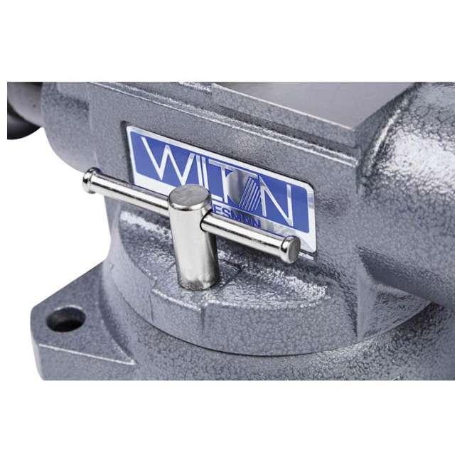 JPW-28807 Wilton Tradesman 6.5 In Jaw Width Steel Swivel Base Anvil Work Bench Vise (2) 4