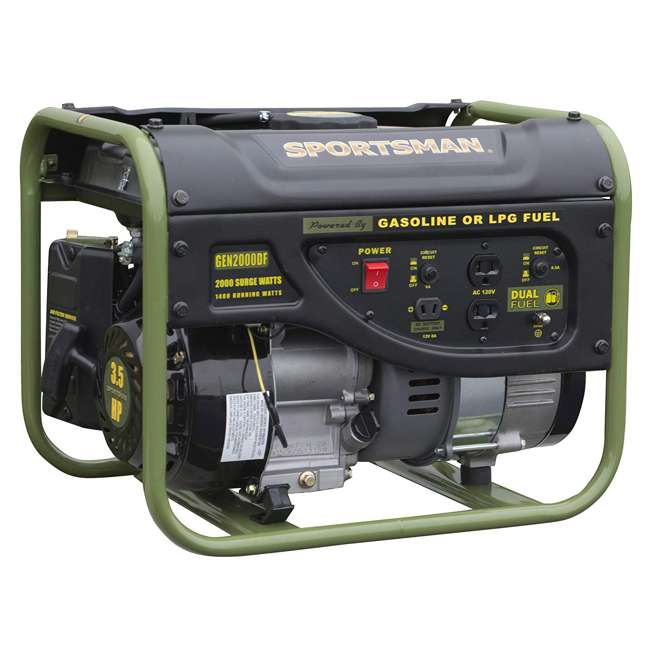 BFT-GEN4000DF Sportsman GEN2000DF 4000 Watt Portable Dual Fuel Generator, Black 3
