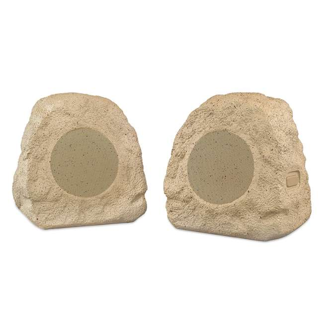 ITSBO-358-PAIR-TAN Victrola Bluetooth Cordless Outdoor Wireless Rock Speakers, Tan