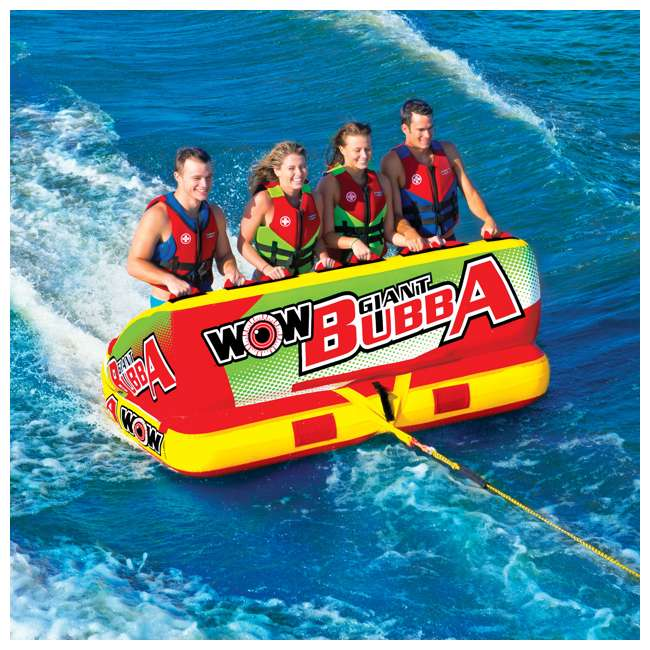 17-1070 World of Watersports Giant Bubba 4 Rider Inflatable Tube 5