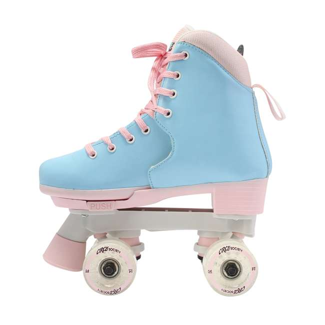 168260 Circle Society Classic Cotton Candy Kids Skates, Girls Sizes 12 to 3 3