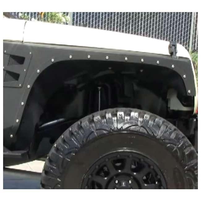 76880-SMITTYBILT Smittybilt XRC Front Fender Armor for Jeep Wrangler, Rubicon & Unlimited