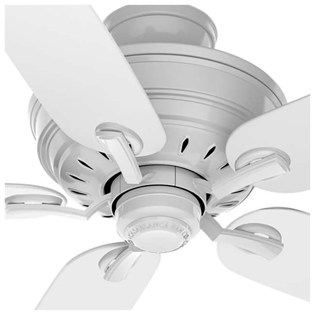 54157 Casablanca Adelaide 54 Inch Indoor Metal Ceiling Fan with Pull Chain, Snow White 2