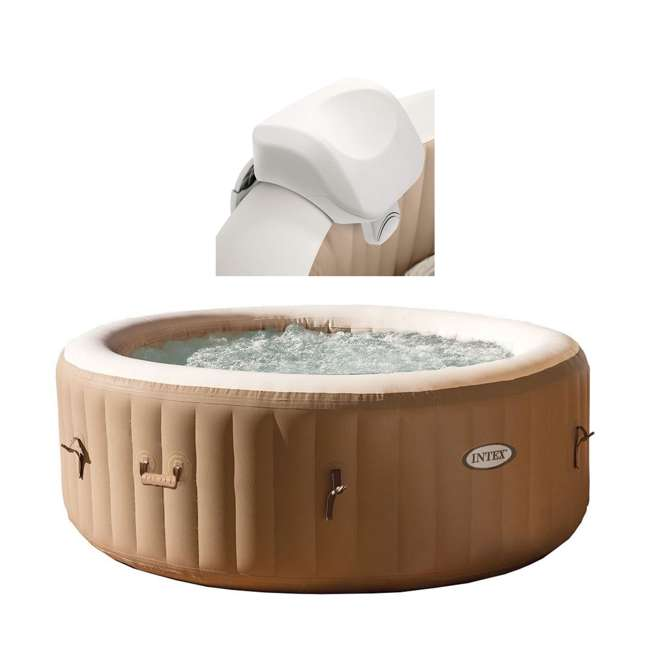 28505E + 28403E Intex 28403E Pure Spa 4-Person Inflatable Hot Tub With Headrest