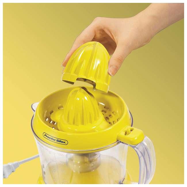 66331 + 0480 Proctor Silex 66331 34-oz. Countertop Lemonade Stand Citrus Lemon/Fruit Juicer 2