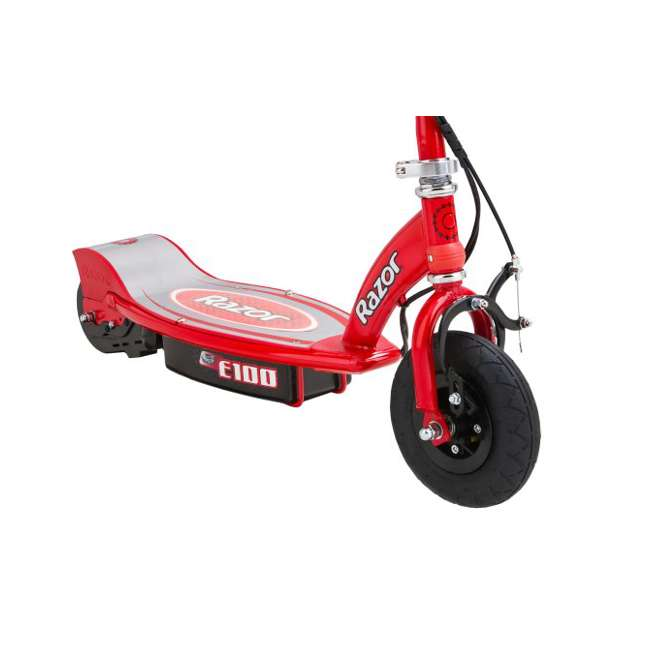 13111260 + 97778 + 96785 Razor E100 Electric Scooter (Red) with Helmet, Elbow & Knee Pads 7