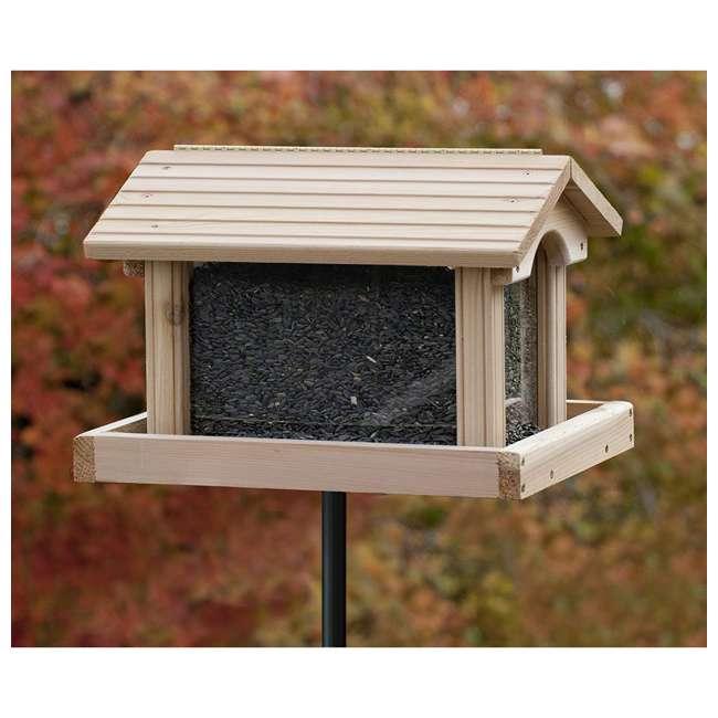 24371 Woodlink 24371 PRO4 Premier Large Capacity Ranch Style Red Cedar Wood Bird Feeder 1