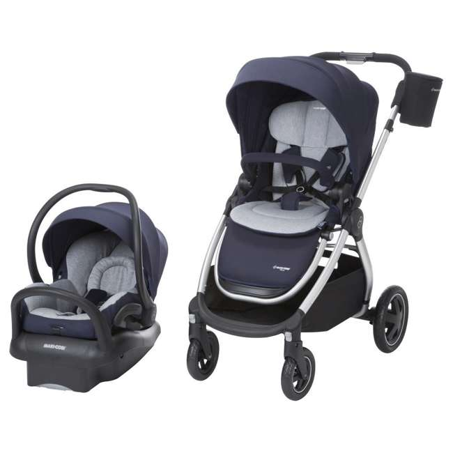 TR362CTD Maxi-Cosi Adorra Stroller and Car Seat Travel System, Brilliant Navy