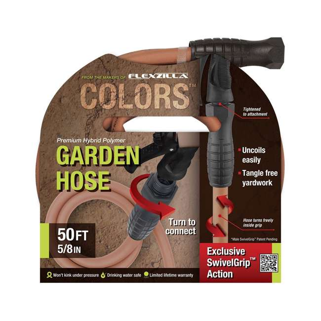 LEG-HFZC550TCS Flexzilla Colors 50-Ft Garden Hose with SwivelGrip, Red (2 Pack) 2