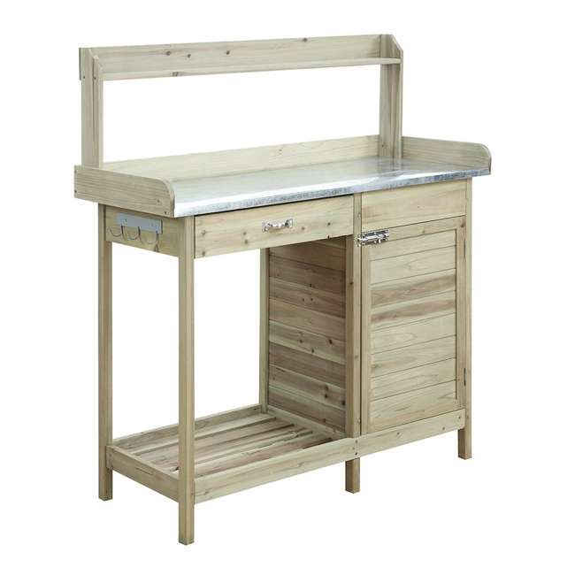 V10-460 Convenience Concepts V10-460 Deluxe Wooden Potting Bench with Cabinet, Brown