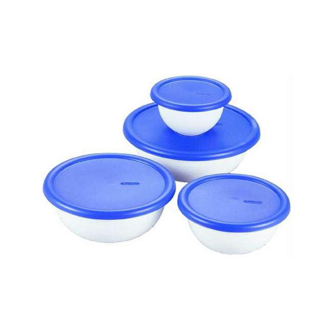 6 x 07479406-U-A Sterilite 8-Piece Plastic Kitchen Covered Bowl/Mixing Set (Open Box) (6 Pack)