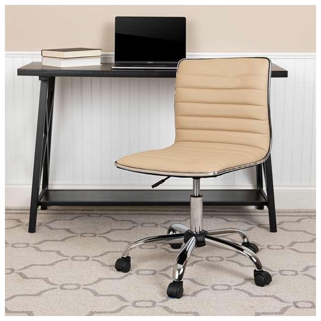 DS-512B-TAN-GG Flash Furniture Swivel Foam Molded Seat Dual Wheel Casters Chair, Glossy Tan 8