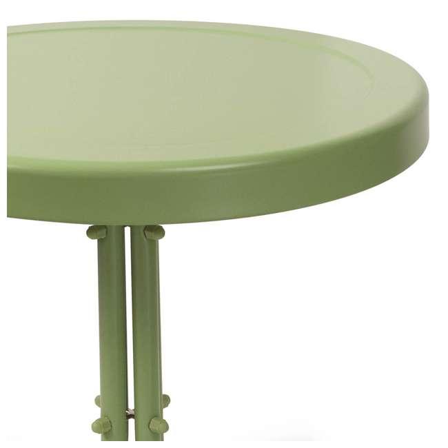 "CO1011A-GR-U-A Crosley Furniture 19"" x 22"" Retro Metal Patio Side Table, Green (Open Box) 4"