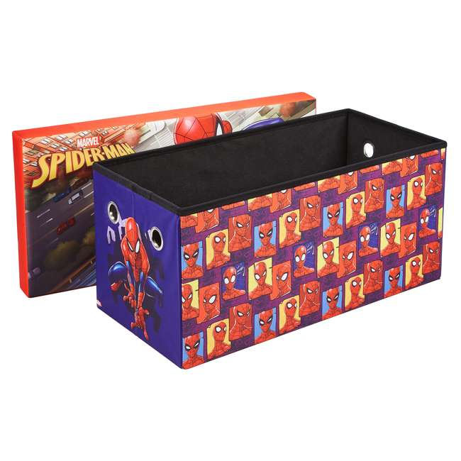 520021-001 Fresh Home Elements 30-Inch Licensed Folding Super Toy Chest & Bench, Spider-Man 1