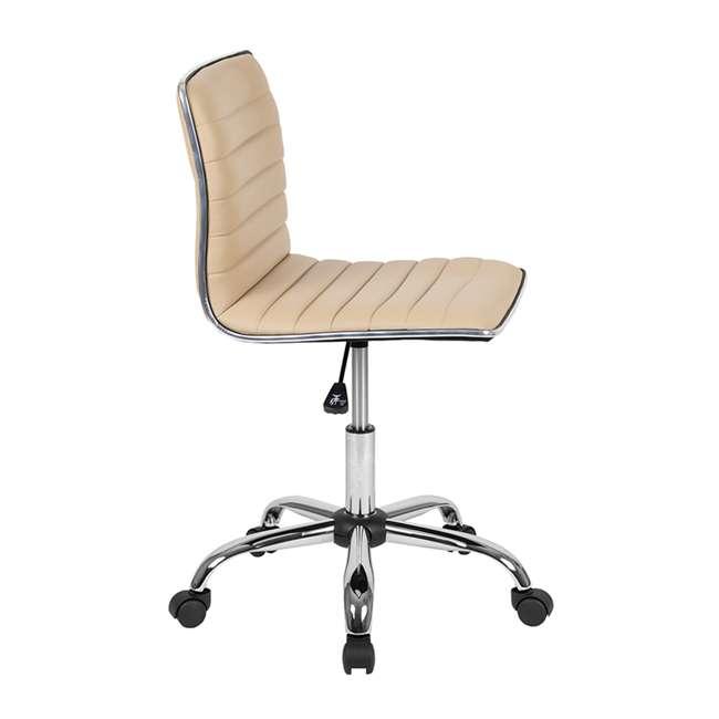 DS-512B-TAN-GG Flash Furniture Swivel Foam Molded Seat Dual Wheel Casters Chair, Glossy Tan 1