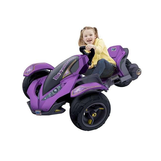 FLC34  Power Wheels Kids Electric Mini ATV Boomerang Ride-On , Purple 4