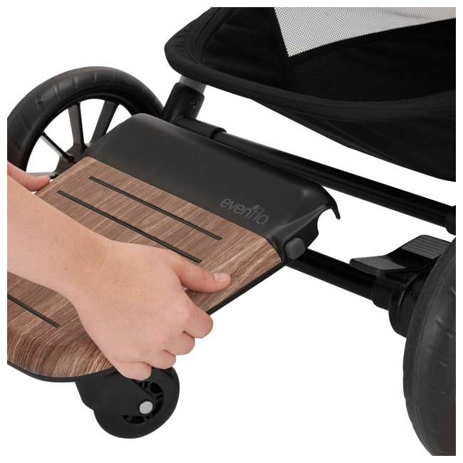 630439 Evenflo Stroller Stand and Ride Rider Board Accessory Attachment Only, Wood 3