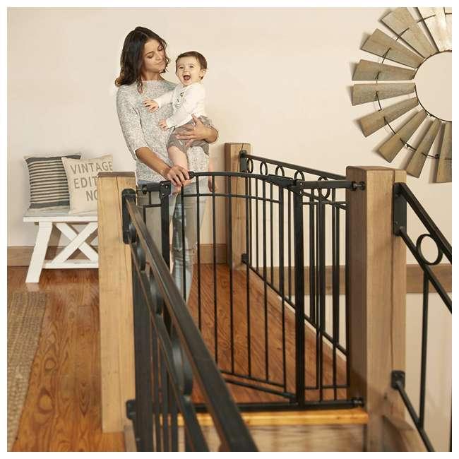 4471110 36-Inch Adjustable Baby & Pet Safety Gate, Black 4