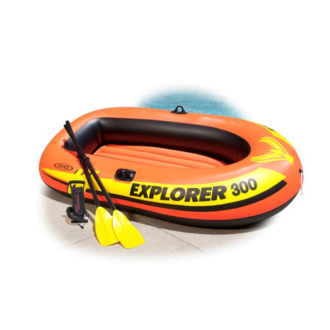 58332EP-U-A Intex Explorer 300 Compact Inflatable Three Person Raft Boat 58332EP (Open Box) 2