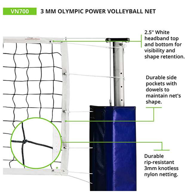 VN700 Champion Sports Official Olympic Sized 32 x 3.13 Inch Volleyball Net, White 1