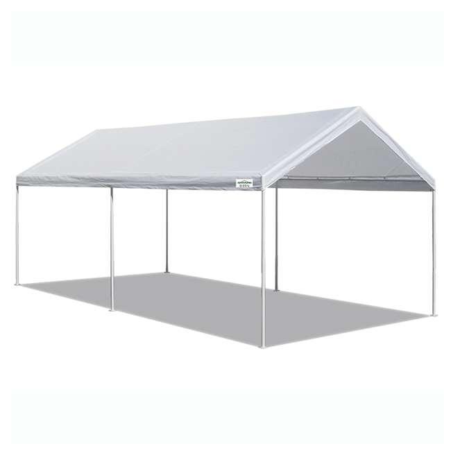 CVAN22006200010 Caravan Canopy Domain 10 x 20 Foot Straight Leg Instant Canopy, White