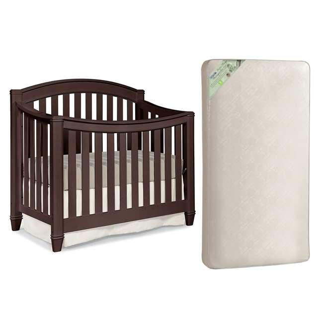 04565-309 + KM301-WGT1 Thomasville Kids Highlands Crib, Espresso & Kolcraft Pure Sleep Mattress