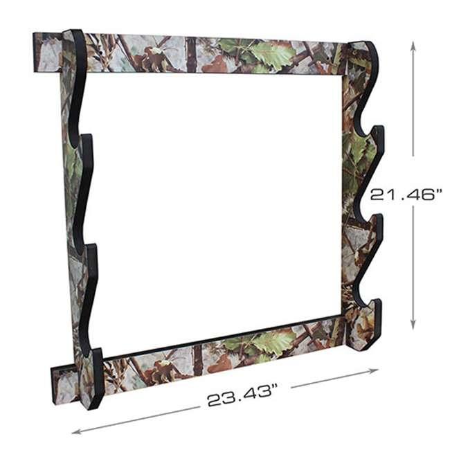 38-4042 Rush Creek Creations 38-4042 Camouflage Laminate 3 Gun Mounted Display Wall Rack 1