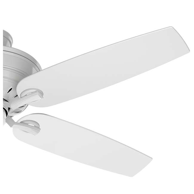 54157 Casablanca Adelaide 54 Inch Indoor Metal Ceiling Fan with Pull Chain, Snow White 1