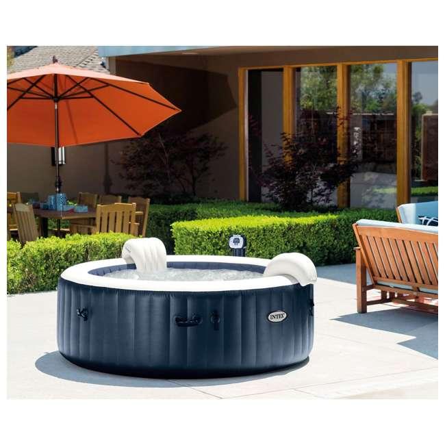 28405E + 28004E + QLC-14890 Intex Pure Spa 4-Person Home Inflatable Hot Tub, Accessory Kit, & Chemical Kit 9