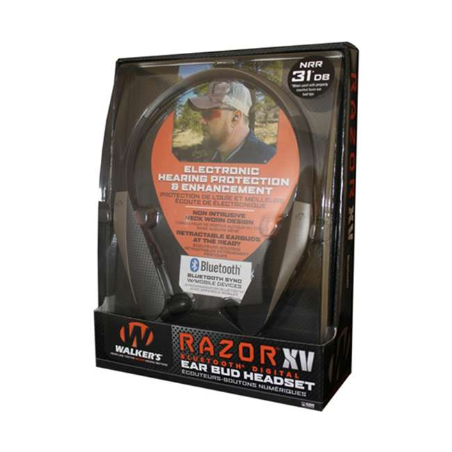 GWP-NHE-BT Walker's Razor XV Bluetooth Digital Ear Bud Headset 4