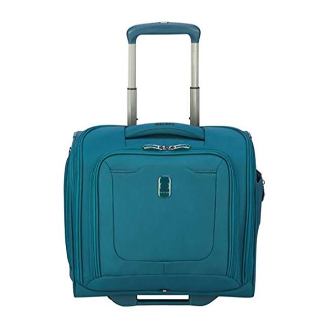 40229194732 DELSEY Paris 4 Sized Reliable Hyperglide Softside Travel Luggage Bag Set, Teal 1