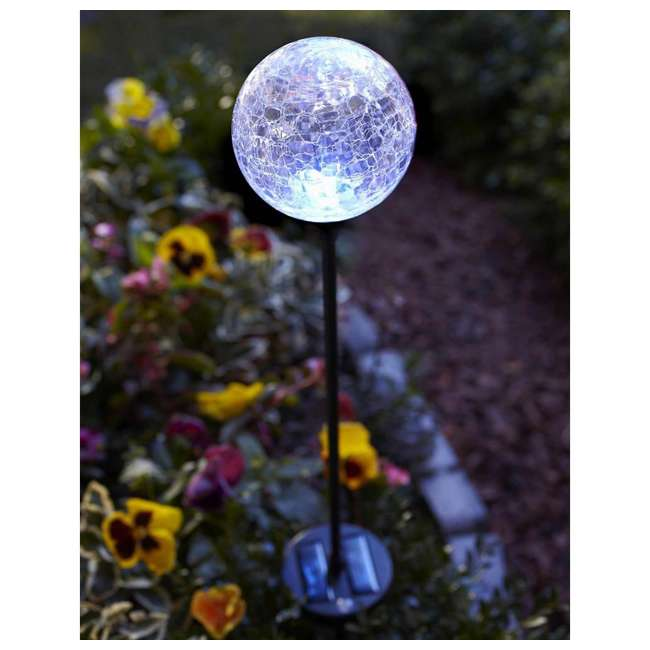 MR-91251 Moonrays 3 LED Solar Path Lights Glass Ball Design With Color Changing Feature 3