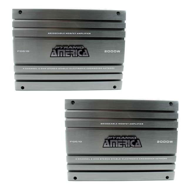 PB618 Pyramid PB618 2000-Watt 4-Channel Amplifier (2 Pack)