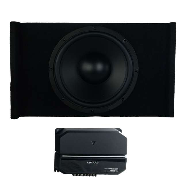 P-W121B Kenwood P-W121B 12-Inch Loaded Sealed Subwoofer & Amp Package