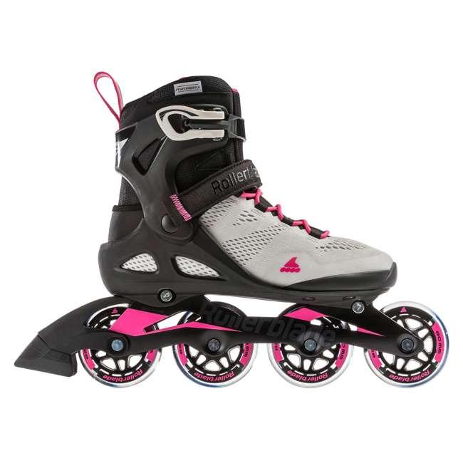 7955300500-6 + 06320200001-M + 067H0310800-L Rollerblade USA Women's Size 6 Rollerblades + Pads + Helmet 1