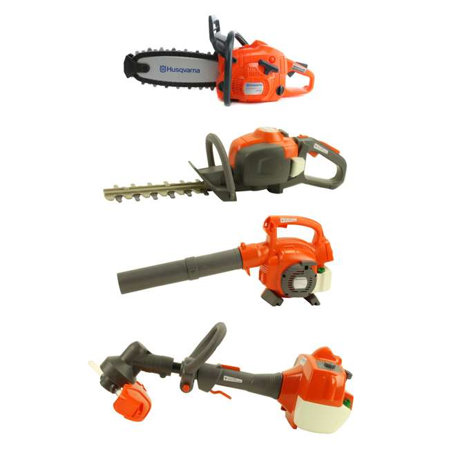 522771104+ 585729103 + 589746401 + 585729102 Husqvarna Battery Operated Toy Kids Lawn Equipment Package