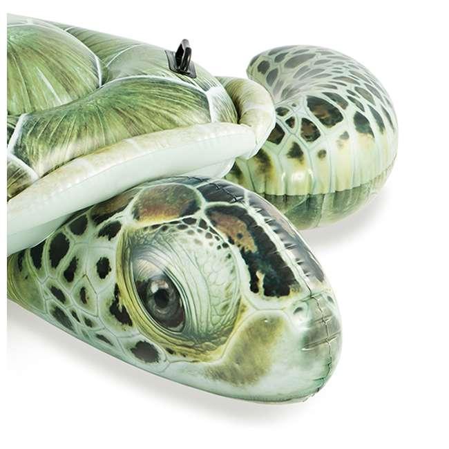 57555EP-U-B Intex Realistic Sea Turtle Inflatable Ride-On Pool Float with Handles (Used) 1