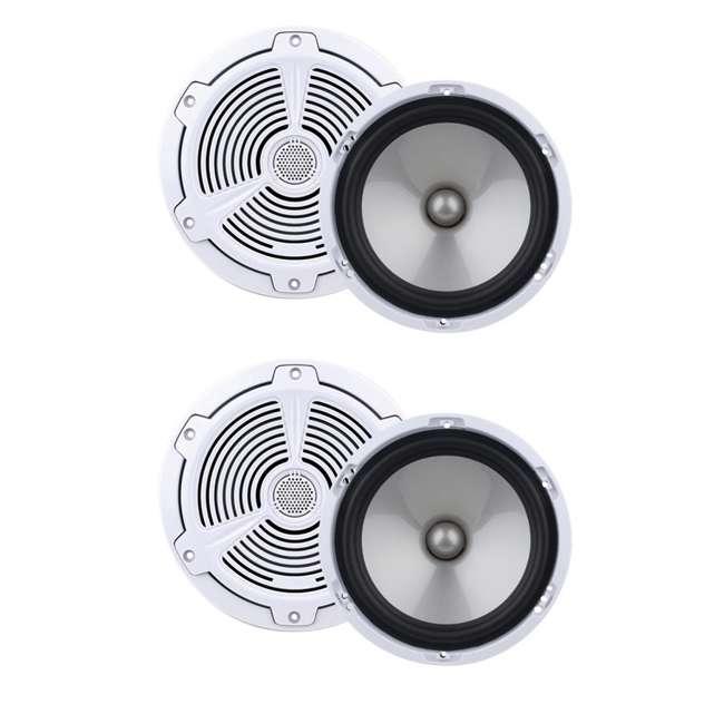 MR752C Boss MR752C 7.5-Inch 400W 2 Way Marine/Boat Audio Speakers Waterproof - White (2 Pairs)