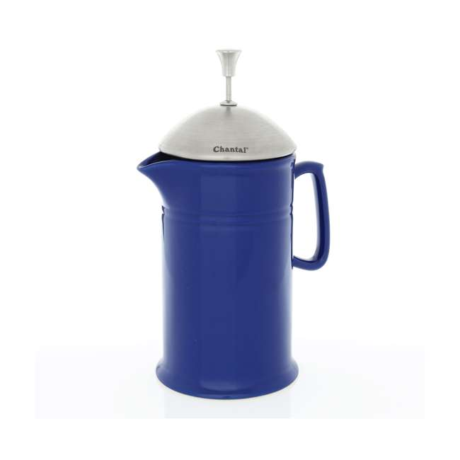 92-FP28 BL-U-C Chantal Ceramic French Press with Stainless Steel Plunger and Lid (For Parts)