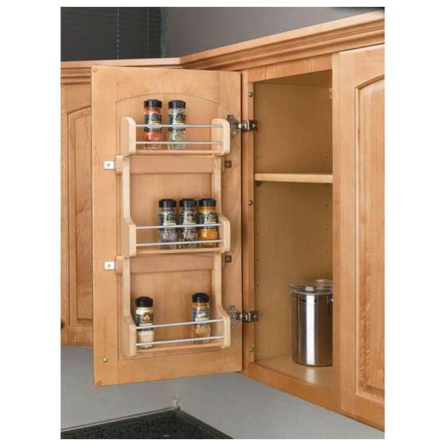 4SR-15 Rev-A-Shelf 4SR-15 Small Cabinet Door Mount Wood 3 Shelf Storage Spice Rack 1