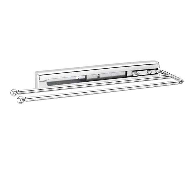 563-51-C Rev A Shelf Bathroom Kitchen Under Cabinet Prong Pull Out Towel Bar, Chrome