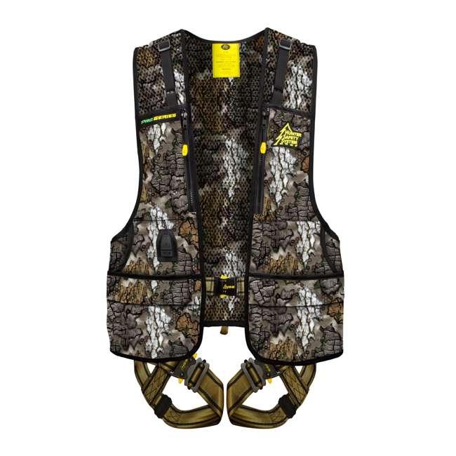 PRO-T-S/M Hunter Safety System Pro Series ElimiShield Hunting Safety Harness Vest, S/M - Treezyn Camo