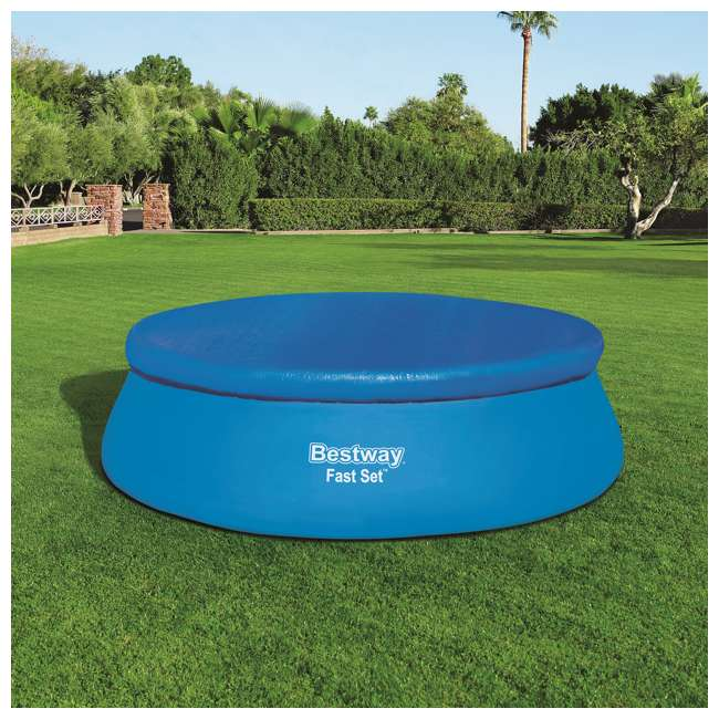 58035E-BW-U-A Bestway Flowclear Fast Set Pool Debris Cover for 15 Foot Round Pools (Open Box) 5