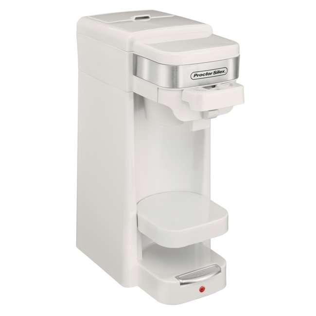 49978 Proctor Silex Single-Serve Compact Coffee Maker, White