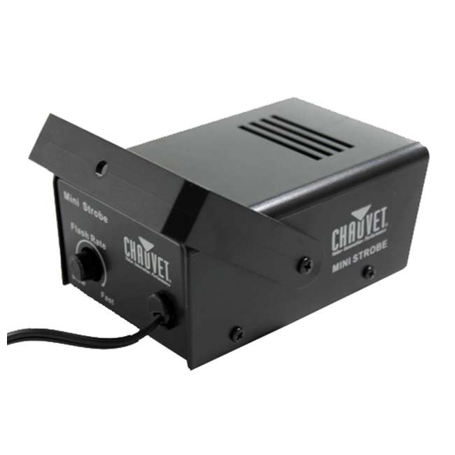 HURRICANE-HAZE2D + FJU + MINISTROBE-LED Chauvet DJ Hurricane Haze 2D Fog Machine w/ Remote, Fog Juice, & Strobe Light 10