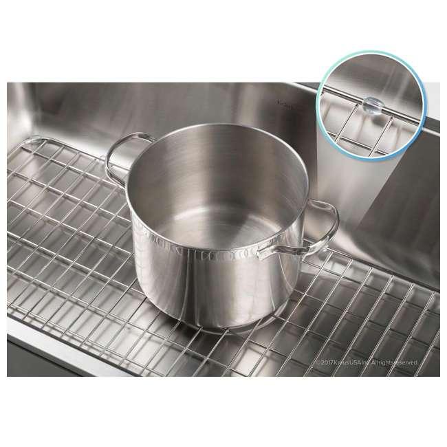BG2317-U-A Kraus Dex Series 25 In. Stainless Steel Sink Bottom Grid Grate (Open Box) 1