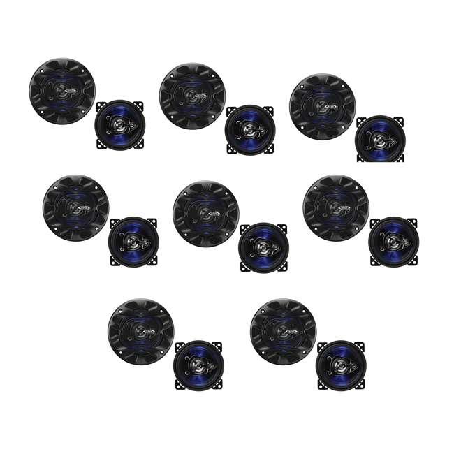 8 x BE423 Boss Rage 4-Inch 3-Way 225W Full Range Speakers (8 Pack)